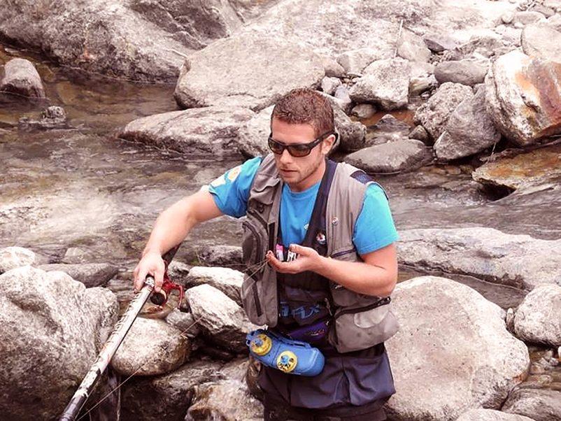 Portrait de guide. Jean-Baptiste BARRERE, moniteur guide de pêche dans les Hautes Pyrénées.