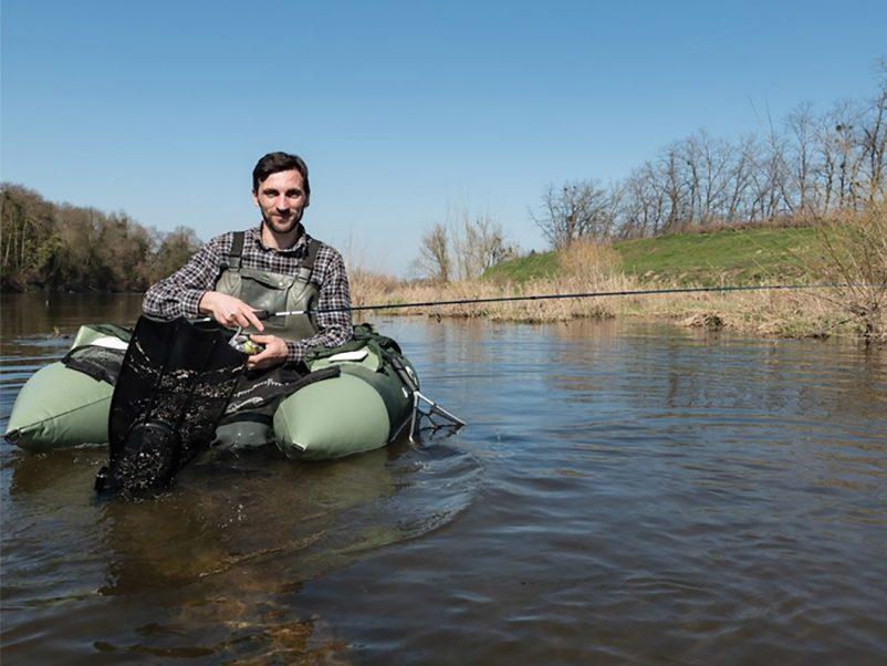Portrait de guide. Julien GRASSOT, moniteur guide de pêche en Loire.